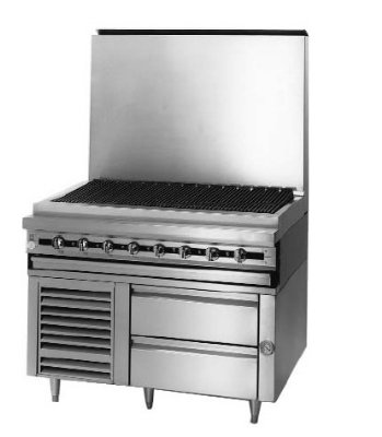 "Blodgett Bpflh-02S-T-48 48"" Chef Base W/ (2) Drawers - 115V, Each front-628386"