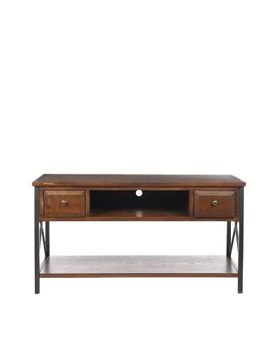 Safavieh Felicia Media Console, Dark Walnut