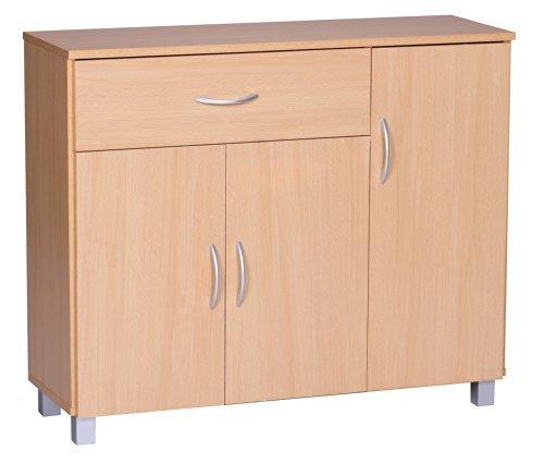 1PLUS-Sideboard-Buche-90-x-75-cm-mit-3-Tren-1-Schublade