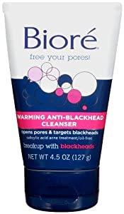 Biore Warming Anti-Blackhead Cleanser, 4.5 Ounce