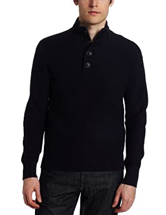 Canterbury Of New Zealand Men's Zuni Half Button Sweater, Dark Navy, Small
