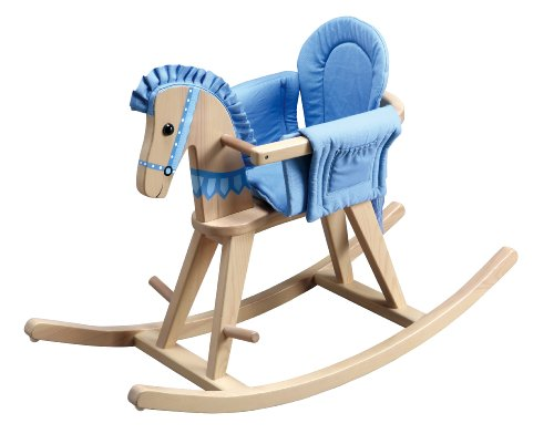 Fantasy Fields - Safari Natural Rocking Horse w/Blue Pad - 1
