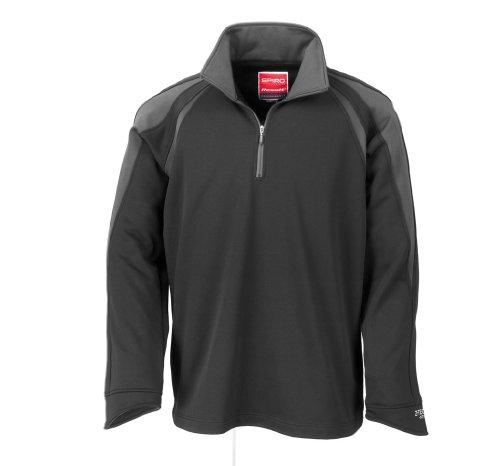 result-sprint-sweatshirt-mit-1-4-reissverschluss-s170m-farbeblack-greygrosses