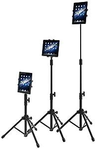 Fashion iPad用スタンド 三脚 タブレットPC/ノートパソコン(iPad・iPad mini・Nexus 7等)用スタンド マルチアングルスタンド 固定ホルダーセット 収納袋付き