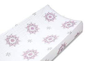 aden + anais Classic Muslin Changing Pad Cover, For The Birds - Medallions