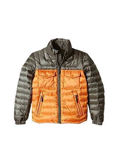 ADD Plumas Bicolor Down Hidden Hood Naranja / Gris