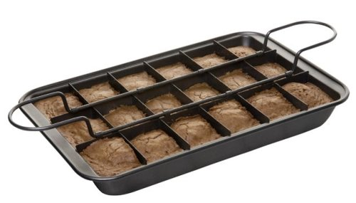 Slice Solutions 11-by-7-Inch Precut Brownie Pan Set (Divided Brownie Pan compare prices)