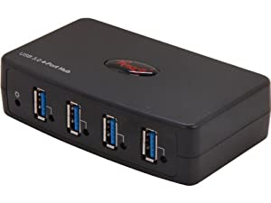 Rosewill 4-Port USB 3 Hub with Power Adapter (RHB-630)
