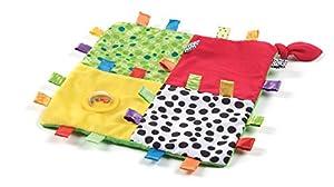 Playgro 0180272 - Mantita de tela con texturas, etiquetas y sonajero - BebeHogar.com