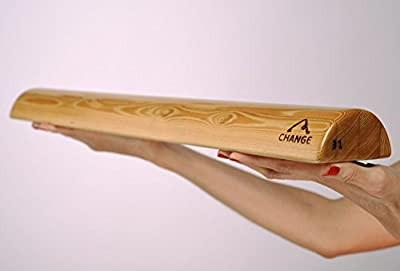 Halbrunder Yoga Block aus Holz