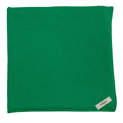 "My Blankee Organic Cotton  Jersey Knit Swaddle Baby Blanket, 47"" X 47"", Kelly Green"