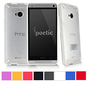 Poetic Atmosphere Case for HTC One M7 Clear/White(3 Year Manufacturer Warranty From Poetic)
