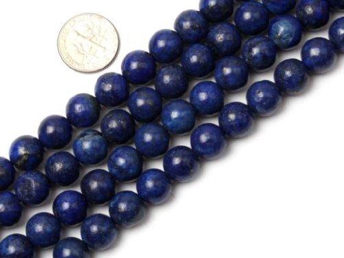 Sweet & Happy Girl'S Store 10mm Round Smooth Surface Lapis Lazuli Gemstone Beads Strand 15