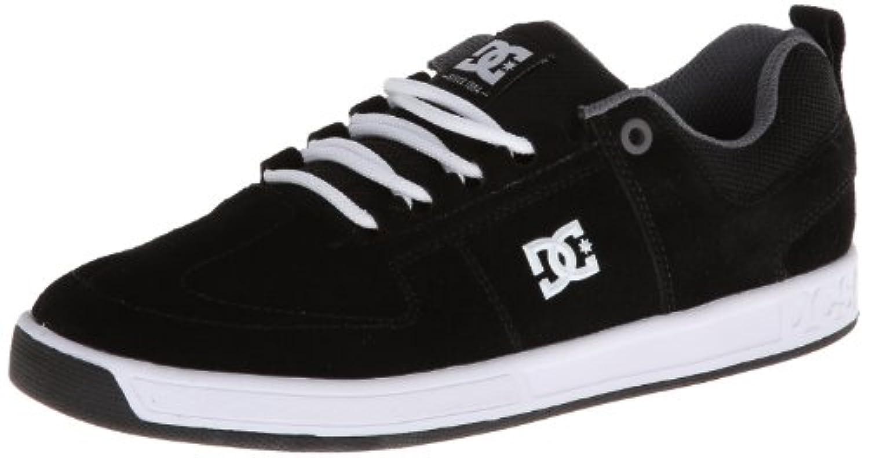 DC Men's Lynx Lace-Up Fashion Sneaker,Black/White,8 M US