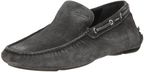 Calvin Klein Men's Collection 1072 Moccasin Black 10