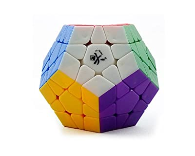 Dayan Megaminx 12-Axis 3-Rank Dodecahedron Speed Magic Cube 12 Colors Stickerless Pentagon Brain Teaser Twist Puzzle by Dayan