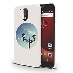 Koveru Designer Printed Protective Snap-On Durable Plastic Back Shell Case Cover for Motorola Moto G4, Motorola Moto G4 Plus - Night Lamp in a day