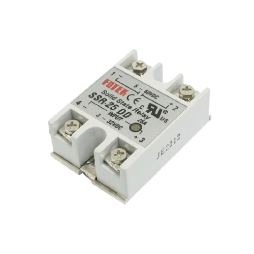 Ssr-25Dd Single Phase Solid State Module Relay 25A Dc 5-60V