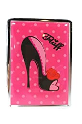 Fluff Pink Polka Dot and Funky Stiletto ID Mirror Case