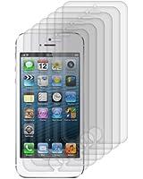 6x kwmobile film de protection pour écran MAT et ANTI-REFLETS avec effet anti-traces de doigts pour Apple iPhone 5 / 5S / 5C. QUALITÉ SUPÉRIEURE