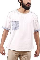 Fadjuice Men's Shirt (Fj43757L_Blue White_Large)