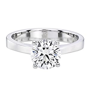 IGI Certified 14k white-gold Round Cut Diamond Engagement Ring (0.55 cttw, G Color, SI2 Clarity)