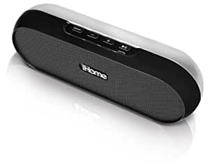 iHome iDM12BC Rechargeable Portable Bluetooth Speaker System for iPod/iPad/iPhone (Black)