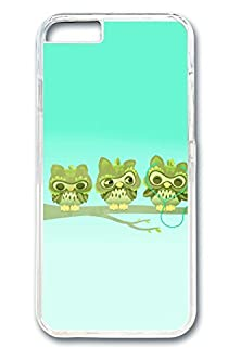 buy Iphone 6 Case, Iphone 6 Case - Crystal Clear Anti-Scratch Hard Case Bumper For Iphone 6 Music Headphones Branch Cartoon Owls Perfect Fit Clear Hard Back Case For Iphone 6 4.7 Inches