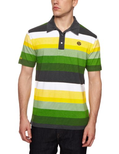 Santa Cruz Portola Polo Men's T-Shirt Green Stripe Small