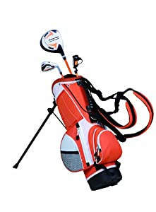 PowerBilt Junior Orange 3 Club Complete Golf Set (3-Feet - 3-Feet 8-Inch, Left Hand)
