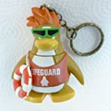 Key Chain - Clip On - SPECIAL - Club Penguin LIFEGUARD 2 Vinyl Mini Figure - Also GREAT Christmas Ornament - Cake Topper - Mix and Match Body Sections - Highly Collectible and Hard to Find