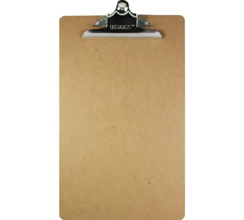 Bazic Hardboard Clipboard with Sturdy Spring Clip, Legal Size (Case of 24)