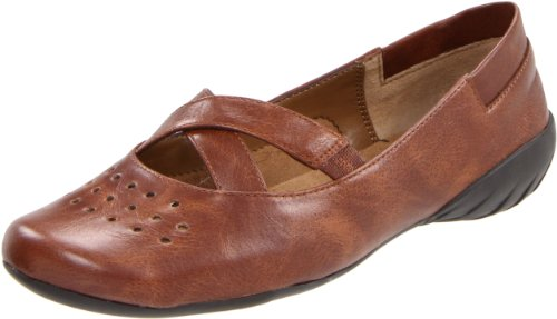 Aerosoles Women's Feature Film Ballet Flat,Brown,10 M US