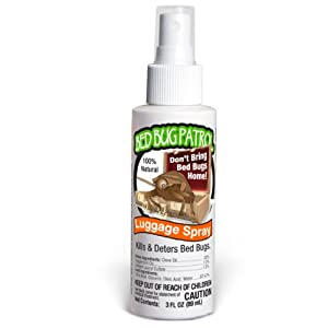Bed Bug Travel & Luggage Spray 3oz - TSA Approved Travel Size 100% Natural Bed Bug Luggage Spray - Kill and Repel Bed Bugs in Your Luggage - Prevent Bed Bugs from Coming Home with You While Traveling.
