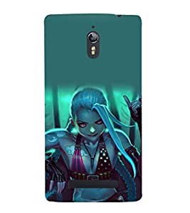 printtech Beautiful Anime Girl Back Case Cover for Oppo Find 7 :: Oppo Find 7 QHD