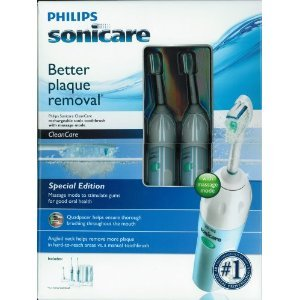 Two Pack - Philips Sonicare CleanCare Rechargable Sonic Toothbrushes with Massage Mode (Special Edition)