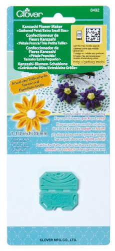 Clover 8492 Kanzashi Flower Maker Gathered Petal Quilt Pattern, X-Small