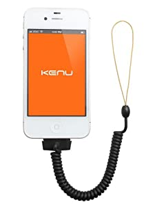 Kenu Highline - iPhone Bungee Leash, Black (4S, 4, 3GS, 3G and all 30 pin iPods)