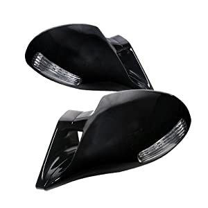 BMW E46 2DR Coupe M3 Type Rear Side View Power Mirrors with LED - Black