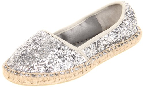Kenneth Cole Girls Size 5 Silver Glitter Espadrilles Shoes