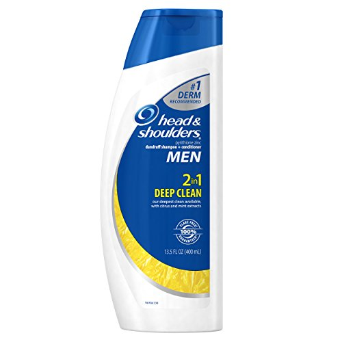 Head and Shoulders Men Deep Clean 2-in-1 Dandruff Shampoo and Conditioner 13.5 Fl Oz