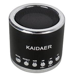Kaidaer MN02 Mini Enceinte acoustique Haut-parleur Stéréo , Son Surpuissant - Couleur Noir pour MP3 MP4 Ordinateur portable