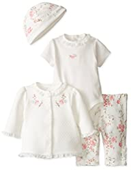 Little Me Baby-Girls Newborn Scroll 4 Piece TMH Pant Set