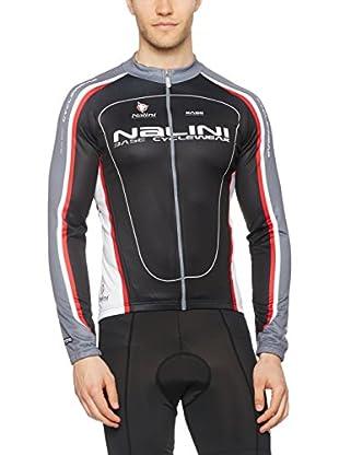 Nalini Maillot Ciclismo Saccarina (Negro)