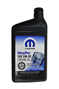 Genuine Chrysler Accessories 4761872mb Sae 5w 20 Mopar Engine Oil 1 Quart Bottle