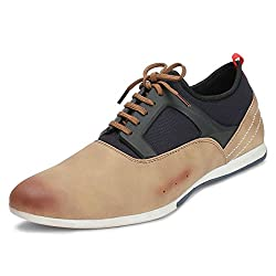 Bacca Bucci Men Tan PU Casual Shoes 08 UK