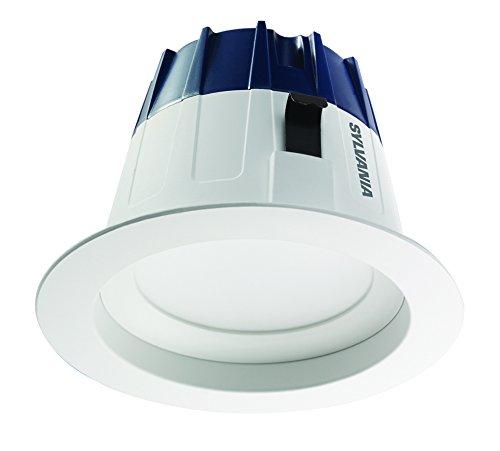 Sylvania Commercial 70395 Osram Sylvania Ultra Rt4 Gimbal Recessed Downlight Kit, 0.08 A, 50, E26 Medium, Led Lamp, 120 V, 9 W, 4 Inch White