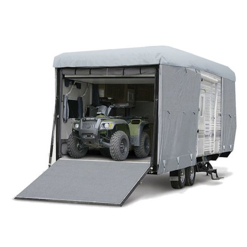 Budge Premier Toy Hauler RV Covers Fits Toy Hauler RVs up to 21' Long (Gray, Polyproplyene) (Rv Cover Budge compare prices)