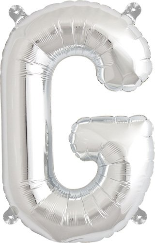 16 inch Letter G - Silver Air-Filled Foil Balloon