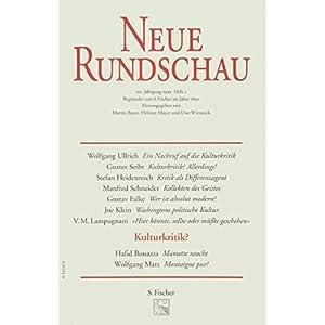 Neue Rundschau 1999/2: Über Kulturkritik